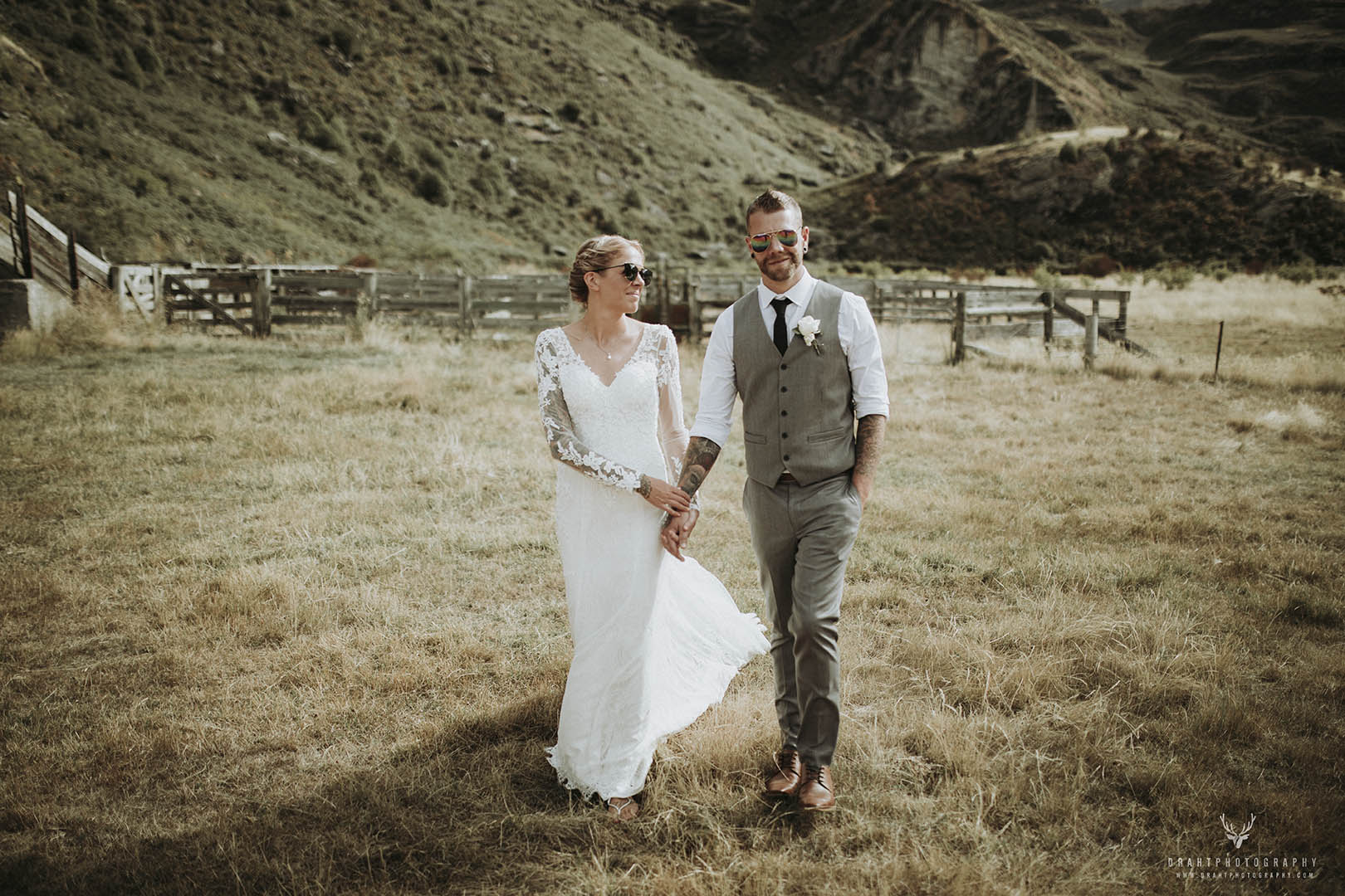 The Helicopter Wedding in the Mountains Sampler - Draht Photography