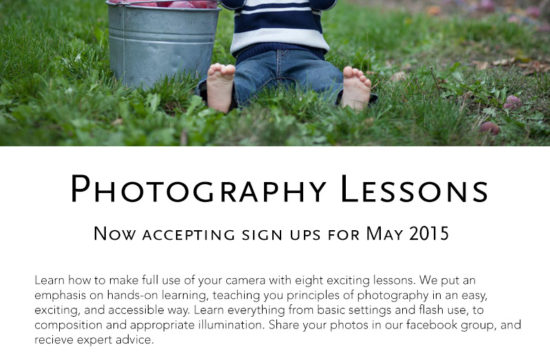 Photography Lessons Poster
